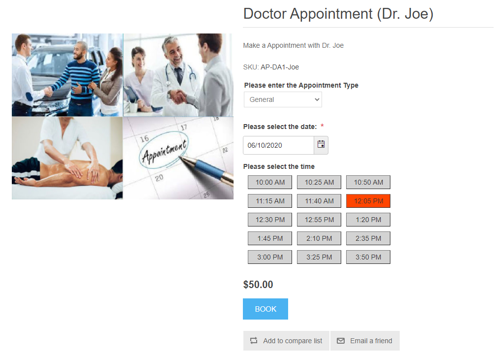 Appointment Time Selection